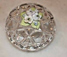 Glass/Crystal Collectable Pill & <b>Trinket</b> Boxes for sale | eBay