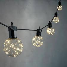 patio lights globe decorative light celestial globe string lights with silver wire leds strand of