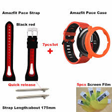 <b>7</b>/<b>lot</b> For <b>Xiaomi</b> Huami <b>Amazfit</b> Pace Watch Strap Bracelet Silicone ...