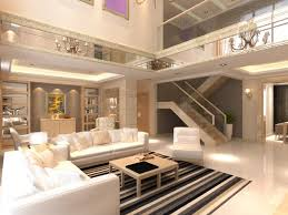 model living rooms: elite living room interior with staircase d model
