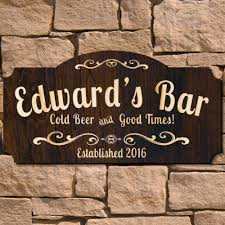 wood sign glass decor wooden kitchen wall: good times wooden pub sign signature series