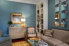 furniture living room wall: blue color decoration ideas for living room nicely simply finished walls sets off the interior