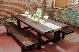 Dining Room Tables With Bench Rustic Dining Room Table With Bench Design Bug Graphics
