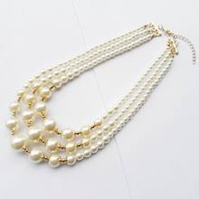 3 strand <b>pearl</b> choker <b>necklace</b>