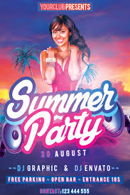summer party flyer flyers print templates share on summer summer party flyer psd template by klarensm on