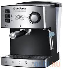 Kофеварка рожкового типа <b>Endever Costa</b>-<b>1060</b>, черный/стальной