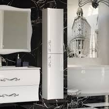 <b>Шкаф</b>-<b>пенал Aima Design</b> Amethyst 30П R white, вогнутый - купить ...