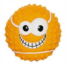 игрушка для собак ziver мяч веселый теннис с пищалкой цвет оранжевый диаметр 7 5 см
