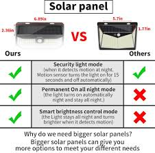 Aootek 182 <b>Led Solar</b> outdoor motion sensor <b>lights</b> upgraded <b>Solar</b> ...