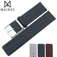 <b>MAIKES New Arrival</b> Genuine Leather Watch Band 16mm 18mm ...