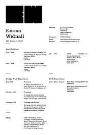 curriculum vitae design by emma