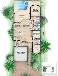 Tuscan Style House Plan   WE   st Floor Master Suite  CAD    Floor Plan