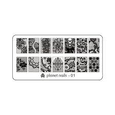<b>Пластина для</b> Stamping Nail Art №01 <b>Planet Nails</b> 23088/1