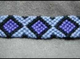 <b>Friendship Bracelet Tutorial</b> - Intermediate - <b>Diamonds</b> (original ...