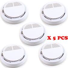 <b>5pcs</b> High Sensitivity <b>Fire Smoke Sensor</b> Detector Alarm Alert Tester ...