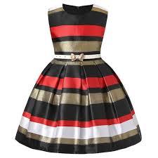 <b>Fashion</b> New Girls Dress <b>European And American</b> Striped ...