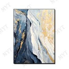 Hand Painted <b>Wall art</b> Picture Abstract blue cloud landscape oil ...