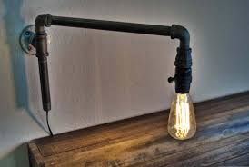 industrial pipe lighting how to make a modern swinging wall light from iron pipe fittings youtube cheap industrial lighting