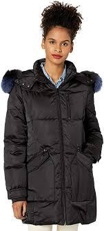 1 Madison womens Warm Winter Coat With Fox Fur ... - Amazon.com
