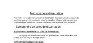 Dissertation gratuite   comment faire une dissertation Doc Etudiant