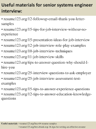 14 useful materials for senior systems engineer system engineer resume sample