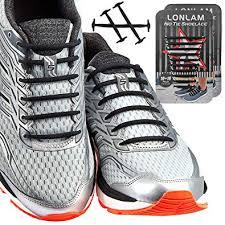 LONLAM No Tie <b>Shoelaces Elastic</b> Silicone Tieless <b>Round</b> Stretch