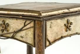 birch bark corner shot bark furniture