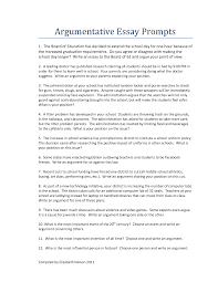 argument essay topics for high school students