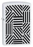 <b>Зажигалка Zippo 214 Abstract</b> с покрытием White Matte,латунь ...