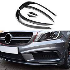 <b>Carbon fiber front</b> splitter air canards for A class <b>W176</b> sport edition ...