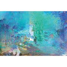 abstract acrylic painting soft blue acryclic painting soft