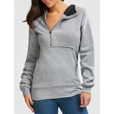 <b>Flocking Front Zip Hoodie</b> - Gray M Mobile   Sweatshirts hoodie ...