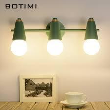 BOTIMI Nordic <b>LED Mirror Light Modern</b> Wall Lamp For Bathroom ...