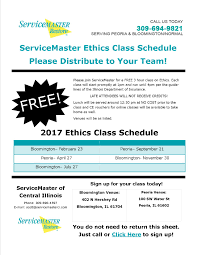 2017 servicemaster ethics class schedule servicemaster of 2017 ce flyer