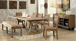 Industrial Style Kitchen Table Gianna Industrial Style 6 Piece Dining Table Set