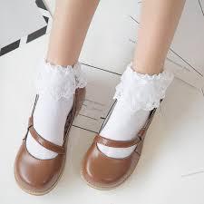 Kawaii Harajuku Lolita Half Socks <b>Gothic Cat</b> Vampire Print Stocking ...