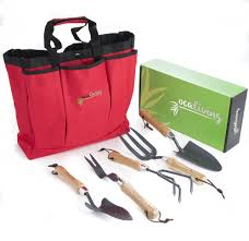 OCALIVING Gorgeous, <b>6</b>-<b>Piece Garden</b> Hand Tool Set inc. Cherry ...