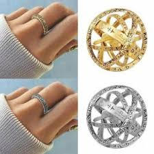Stainless Steel <b>Creative Astronomical Ball</b> Ring Sphere ...