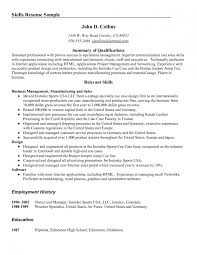 resume job summary how to write a career summary on your resume job qualifications sample air force and aviation manager resume how to write communication skills in resume