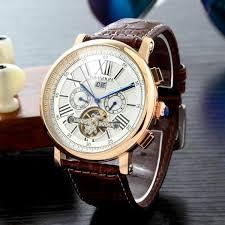 <b>KIMSDUN</b> Men <b>Automatic Mechanical Watch</b> Rose Gold Silver Black ...