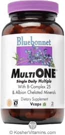Bluebonnet Kosher <b>MultiOne Single Daily</b> Multiple 120 Vegetable ...