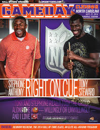 clemson vs tech program 2015 by clemson tigers issuu 2014 clemson vs north carolina football gameday program