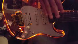 Spectrumaxe Fender Strat LED Light Up <b>Acrylic</b> See-through Clear ...