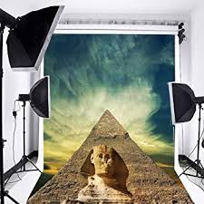 <b>Laeacco</b> 3x5ft Vinyl Photography Backdrop <b>Egyptian Pyramids</b>