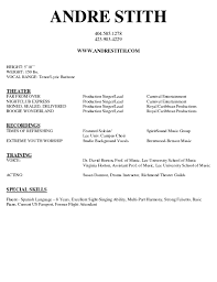 doc singer resume sample velvet template musician smlf format gallery of singer resume template