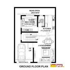House Plan for Feet by Feet plot  Plot Size Square Yards    House Plan for Feet by Feet plot  Plot Size Square Yards    GharExpert com