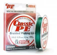 Плетеная <b>леска FANATIK Classic PE</b> X4 (0.10-0.23мм) 100м Green