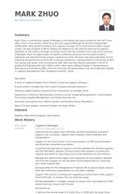 Logistics Manager Resume Samples   VisualCV Resume Samples Database VisualCV