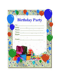 birthday party invite templates com birthday party invitation templates theruntime