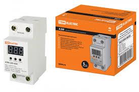 <b>Реле</b> контроля <b>напряжения</b> АЗМ LED-63А-220В <b>TDM</b> - купить ...